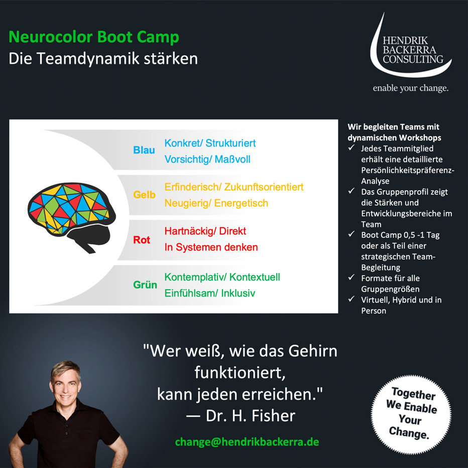 Neurocolor Boot Camp – Die Teamdynamik stärken